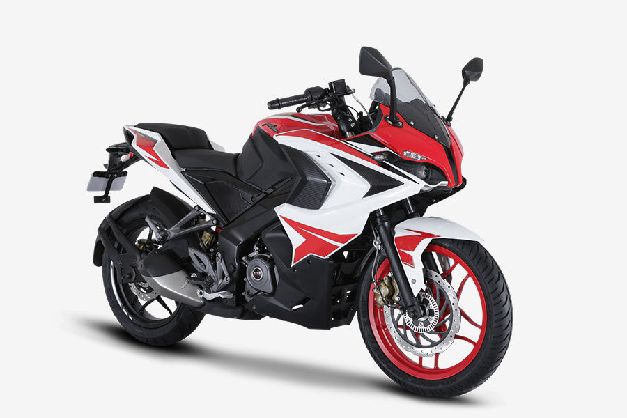 new 2018 bajaj pulsar rs200 racing red colour launched gaadikey. Black Bedroom Furniture Sets. Home Design Ideas