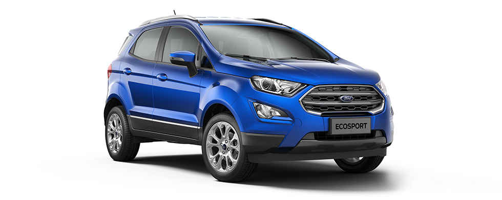 2018 Ford EcoSport Blue Color (Lightning Blue)