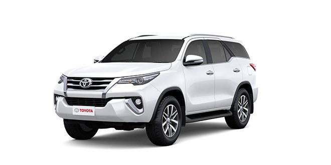 Toyota Fortuner 2018 white Color (Super White)
