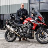 Duke of Cambridge rides in to visit Triumph Motorcycles