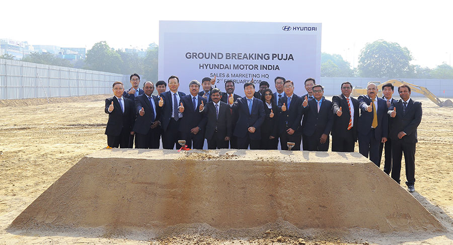Hyundai India Ground Breaking Puja