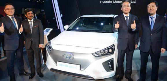 Hyundai Showcases IONIQ EV at Auto Expo 2018