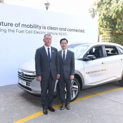 Hyundai Showcases Hyundai NEXO Fuel Cell Electric Vehicle