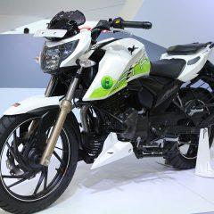 TVS Apache RTR 200 Fi Ethanol Showcased at Auto Expo 2018