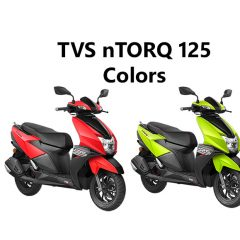 TVS NTORQ Colors: Red, Green, Yellow and White