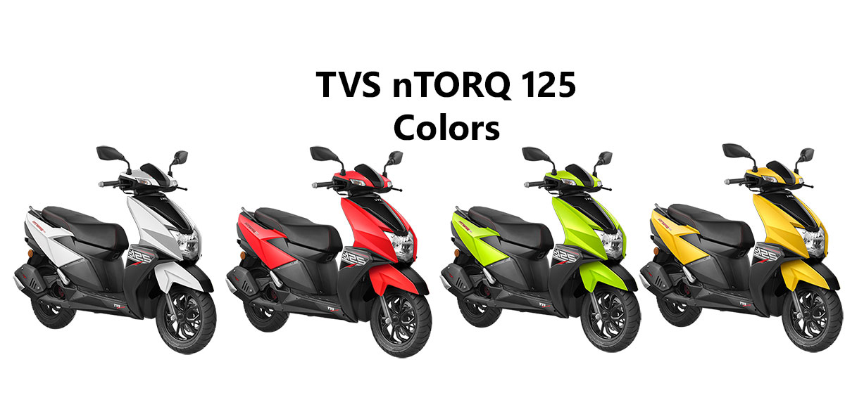 Tvs Ntorq Colors Red Green Yellow And White Gaadikey