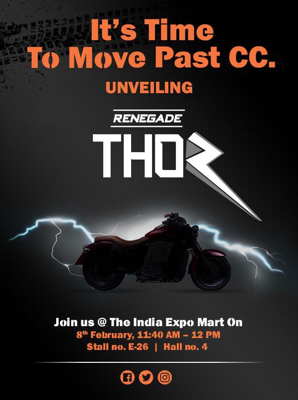 UM Renegade Thor Auto Expo 2018