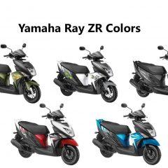 Yamaha Ray ZR Colors: Dark Night, Matt Green, Fizz White, Red, Blue