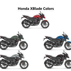 Honda XBlade Colors: Red, Black, Silver, Blue, Marshal Green