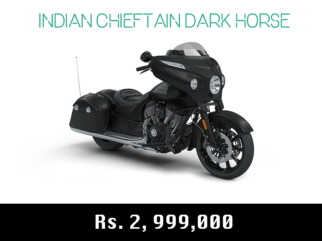 indian motorcycle chieftain dark horse price