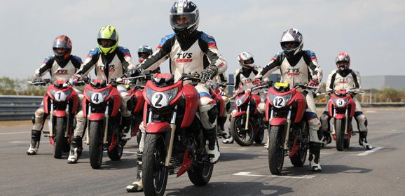 Learning the Art of Track Racing – TVS Young Media Racer Program