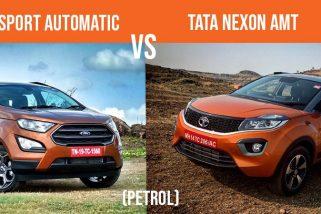 Ford EcoSport Automatic vs Tata Nexon AMT (Petrol)