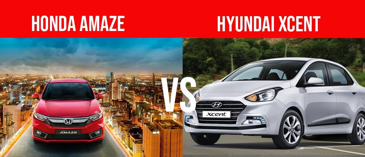 2018 Honda Amaze Vs Hyundai Xcent Compare Before You Buy Gaadikey