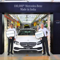 Mercedes-Benz Produces 100,000th Car in India which is an E-Class
