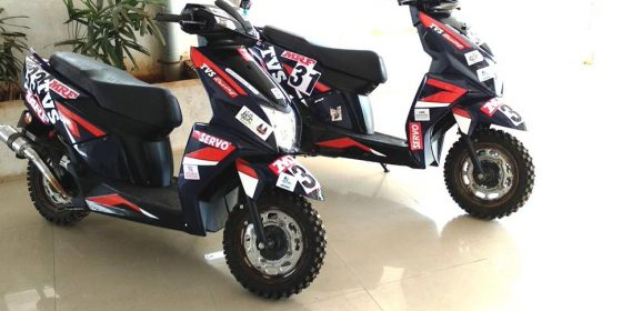 TVS debuts Race-tuned TVS NTORQ SXR at the INRC in Nashik