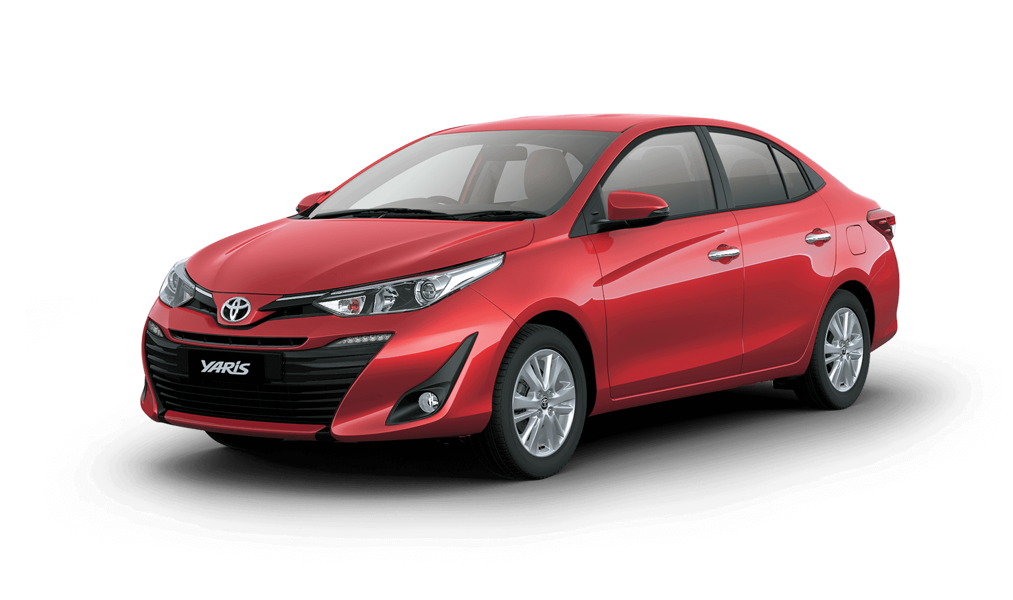 Toyota Yaris Colors: Red, White, Grey, Brown, Silver