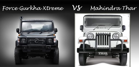 2018 Force Gurkha Xtreme vs 2018 Mahindra Thar C -spec Comparison