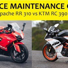 TVS Apache RR 310 vs KTM RC 390 – Maintenance cost