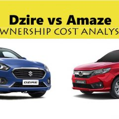2018 Maruti Dzire vs 2018 Honda Amaze  – Detailed Ownership Cost