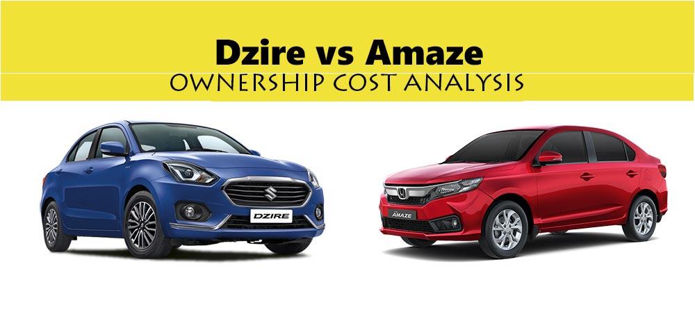 2018 Maruti Dzire vs 2018 Honda Amaze - Maintenance Cost