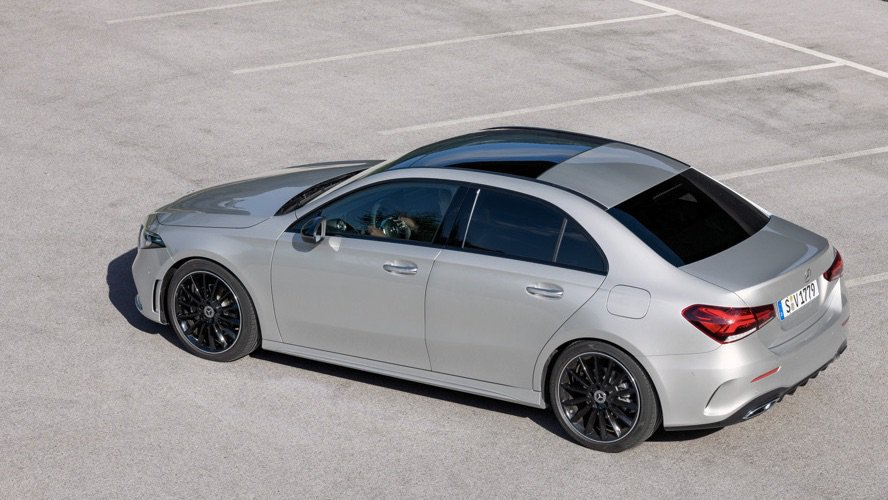 New mercedes benz a class sedan revealed successor to for Bmw and mercedes benz
