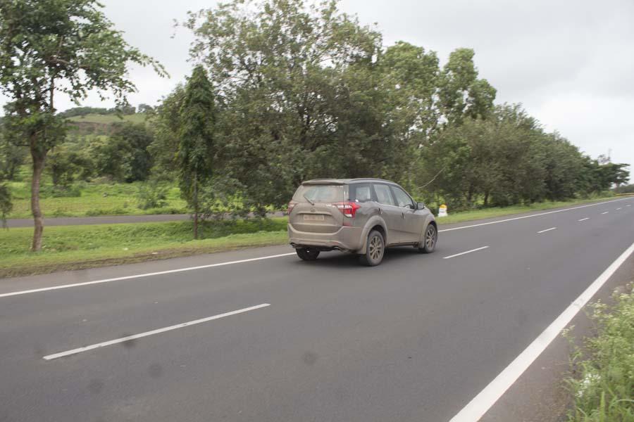 Mahindra xuv500 on road