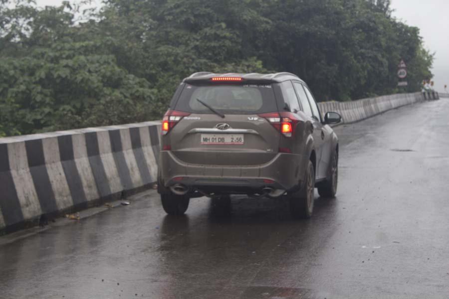 Mahindra XUV500 on a rainy monsoon day