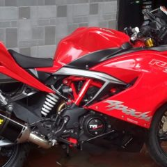 TVS Apache RR 310 to get Akrapovic Racing Line Full exhaust at 55,000