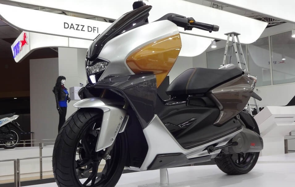 tvs is working on a 150cc maxi scooter for 2019 gaadikey. Black Bedroom Furniture Sets. Home Design Ideas