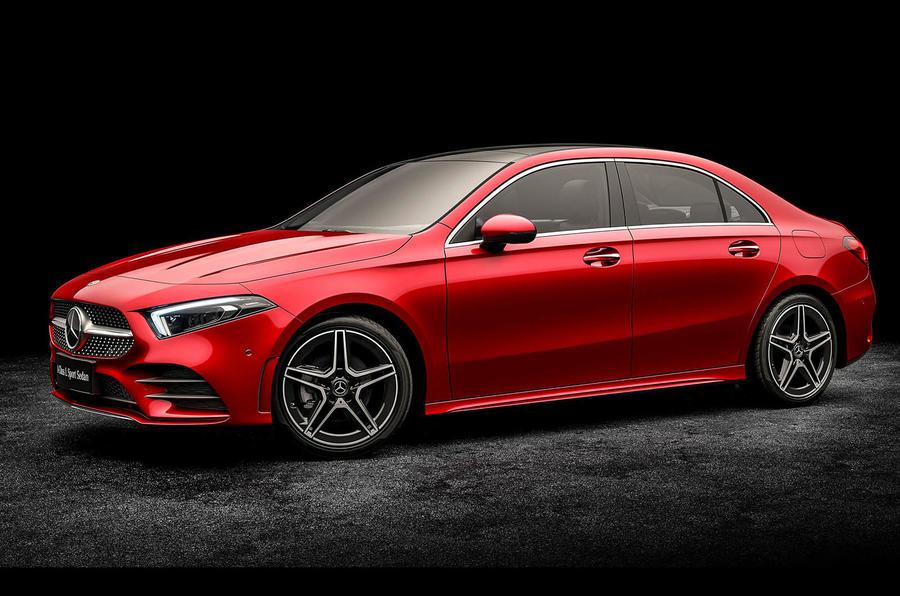 New mercedes benz a class sedan revealed successor to for Mercedes benz c300 engine