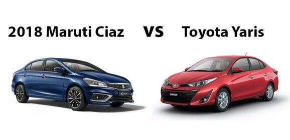 2018 Maruti Ciaz vs Toyota Yaris – Compare Before Buying