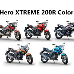 Hero Xtreme 200R Colors: Black, Blue, Orange, Sports Red, Red