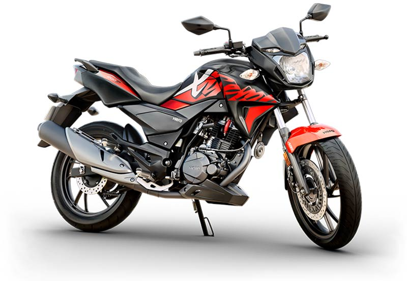 Hero Xtreme 200R Black with Sports Red