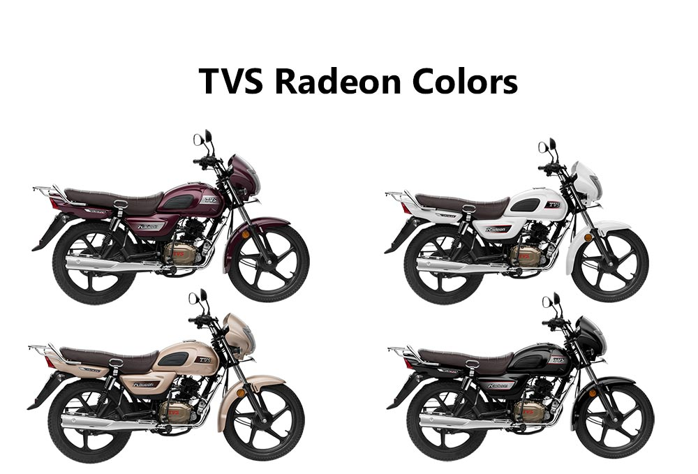 tvs radeon colors  white  black  beige and purple
