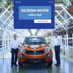 50,000th Tata Nexon rolled out at Ranjangaon Facility