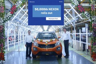 50,000th Tata Nexon rolled out at Ranjangaon Facility