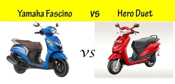 Hero Duet vs Yamaha Fascino : Compare before you buy