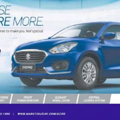 Maruti Dzire Special Edition Launched at Rs 5.56 lakh