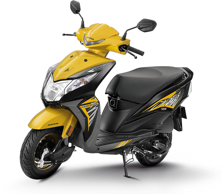 2019 Honda Dio Yellow Color - 2019 Dio Yellow Color