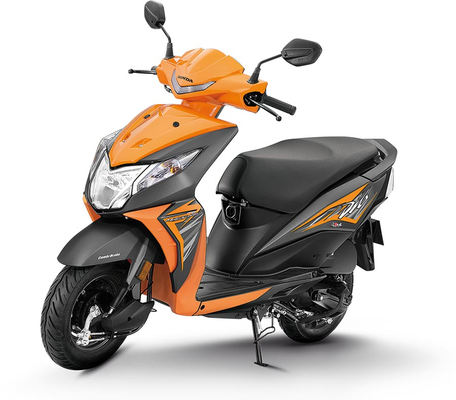 2019 Honda dio orange color standard 2019 Dio