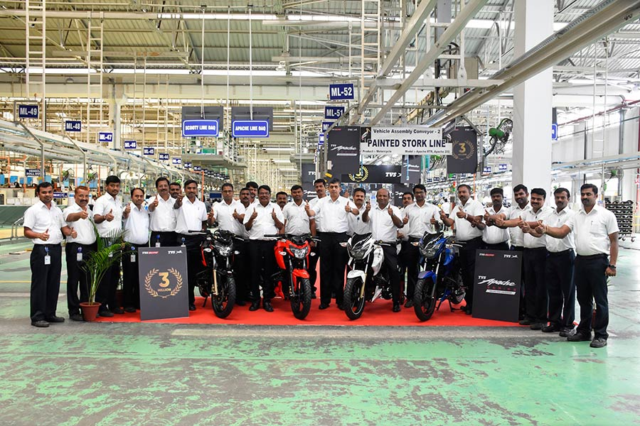 TVS Apache 3 million sales milestone