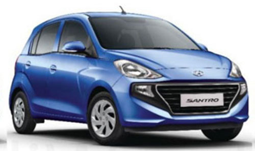New 2018 Hyundai Santro Marina Blue Color. New Hyundai Santro Blue color option
