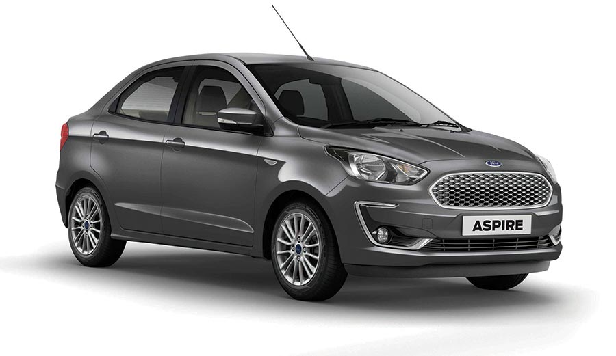 2018 Ford Aspire Colors: Gold, White, Silver, Red, Blue