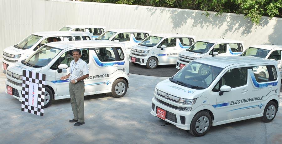 Maruti Electric Vehicle Flagged Off