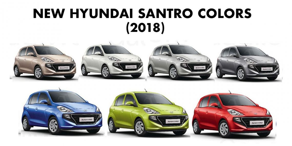 New Honda Motorcycles 2018 >> Hyundai Santro Colors: Beige, Silver, White, Blue, Red, Star Dust, Green - GaadiKey