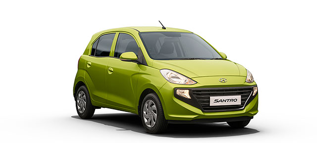 New Hyundai Santro Green Color Diana Green