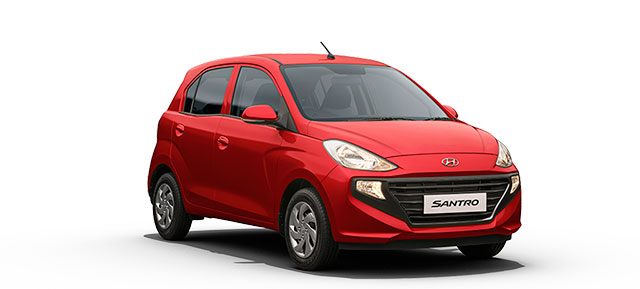 New Hyundai Santro Red Color Fiery Red Color