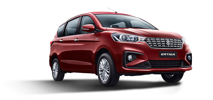 2019 Maruti Ertiga Red Color - New Ertiga Auburn Red Color