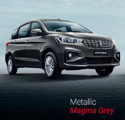 2019 Maruti Ertiga Grey Color Photo - 2019 Maruti Ertiga Magma Grey Color Option