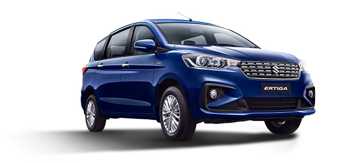 2019 Maruti Ertiga Oxford Blue Color